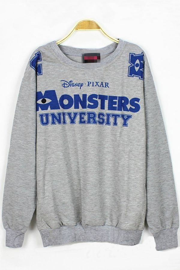 Fashion Cartoon Monster Sweatshirt