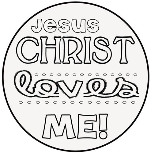 jesus loves me coloring pages printables - jesus loves me printable coloring pages pinterest