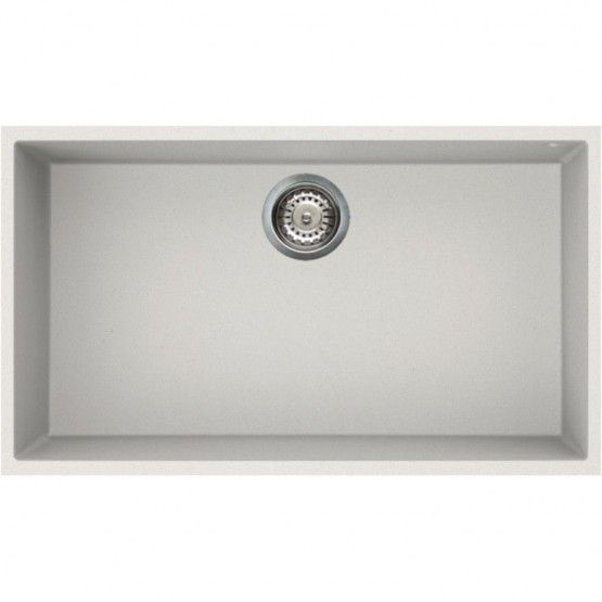 Reginox QUADRA 130 Elleci Granite 1 Bowl Sink, White, 760 x 440mm