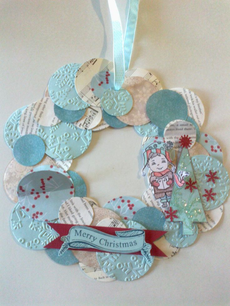 Christmas Wreath with Kaszazz stamps