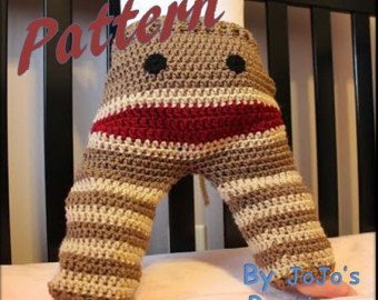 Crochet Monkey Baby to Toddler Pants PATTERN por JojosBootique