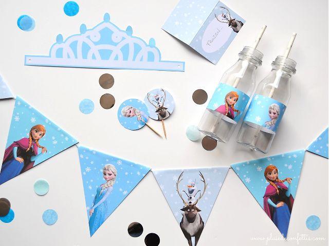 Frozen decoración de fiesta a imprimir gratis
