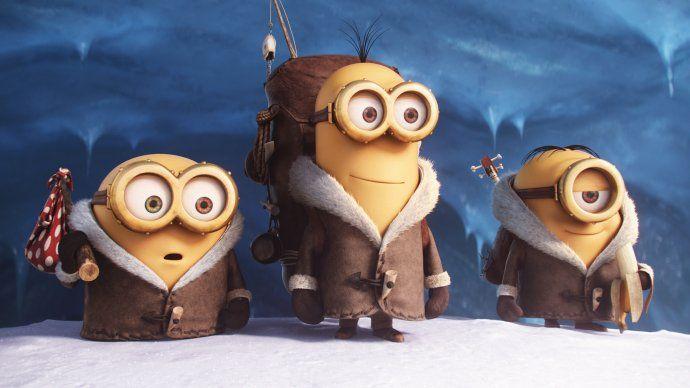 📷 Snowy minions 📌 #Animation #Digital #Minion #Movie #Snow