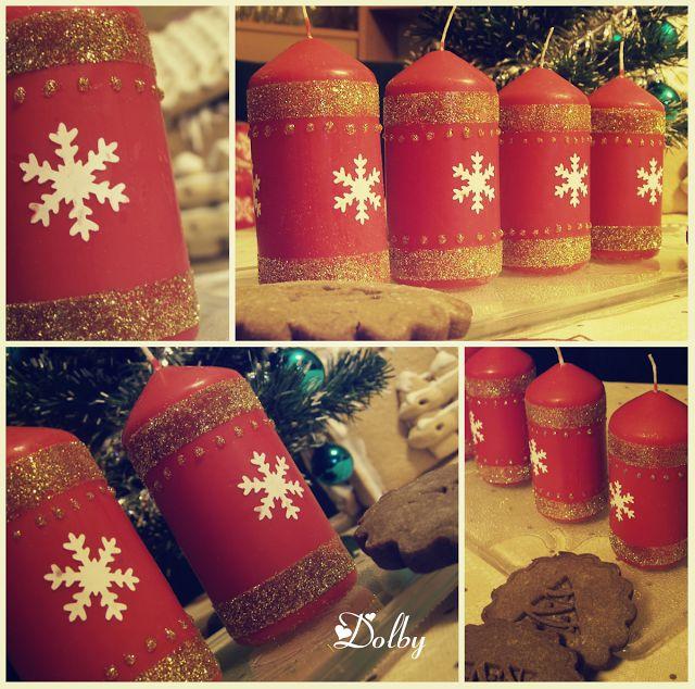 Ozdobne świeczki / Candle Decoration DIY