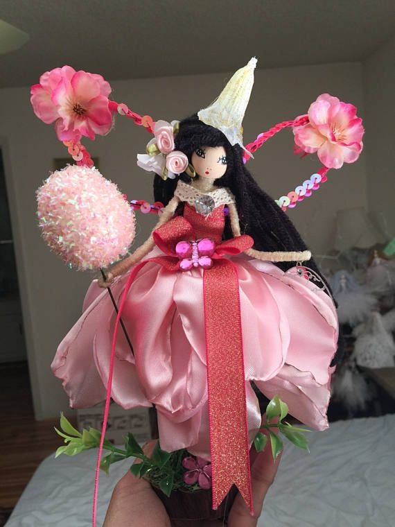 Handcrafted flower fairy doll I made and painted the face manually.. perfect for all occasion Handmade with lots of love... Perfect gift for a birthday... ... Christening... Giveaway... A little something just to say thank you... Or just to treat yourself:) New Flower Fairy