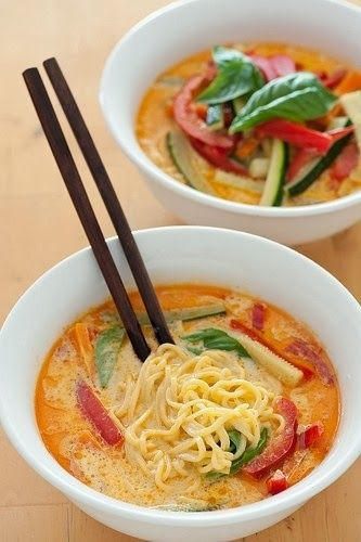 The Cyclist's Wife: Pinspiration {5 Ingredient Noodles: Veggie Laksa by Zen Family Habits}