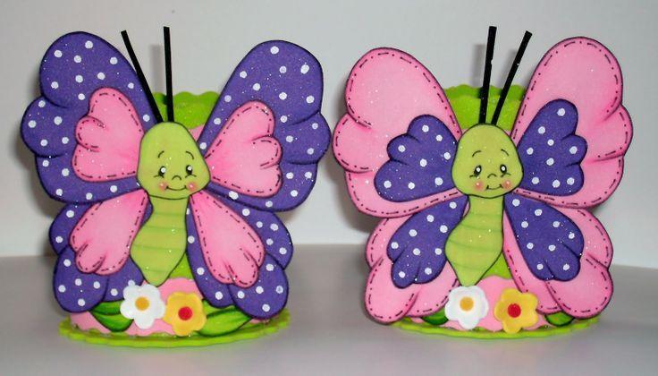 centros de mesa infantiles de flores y mariposas - Buscar con Google