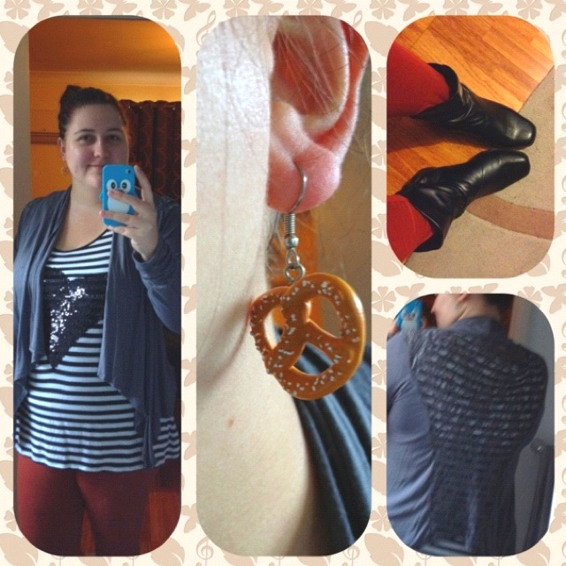 What I'm wearing | Wenesday 4th July 2012 • Tunic - Crossroads • Jacket - Kmart • Leggings - Asos • Earrings - Etsy • Boots - Kmart