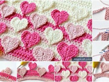 Multicolored Hearts Stitch Pattern