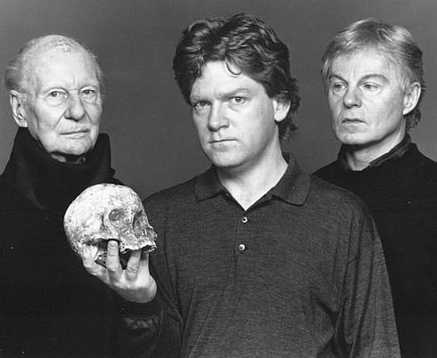 Hamlets Three: John Gielgud, Kenneth Branagh and Derek Jacobi.