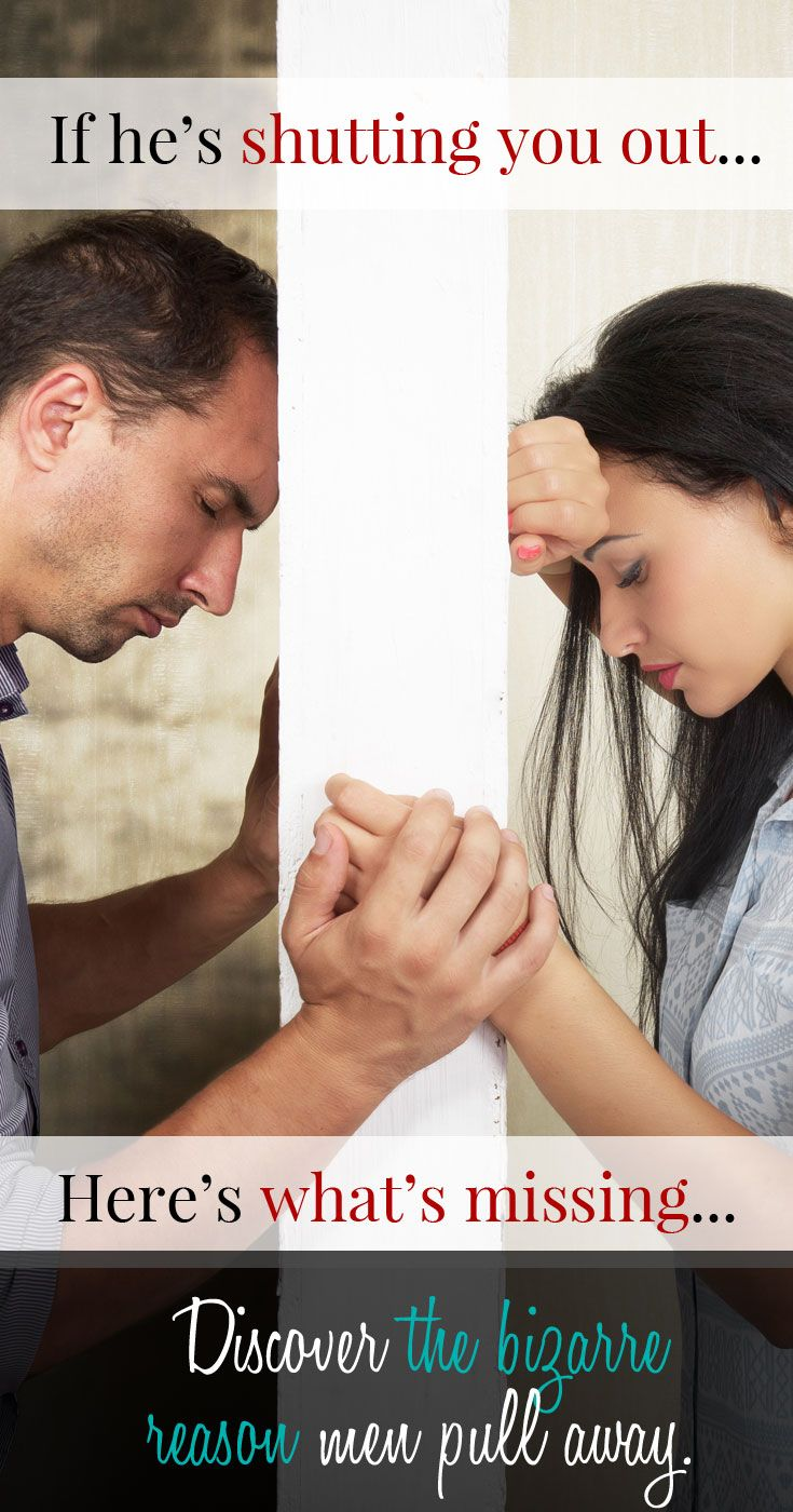 when a man falls in love and pulls away