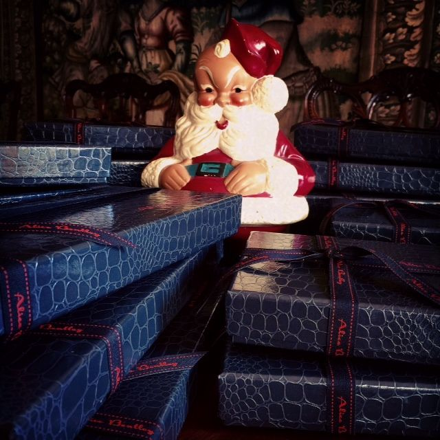 Santa is working hard! www.alicebentleychocolates.com