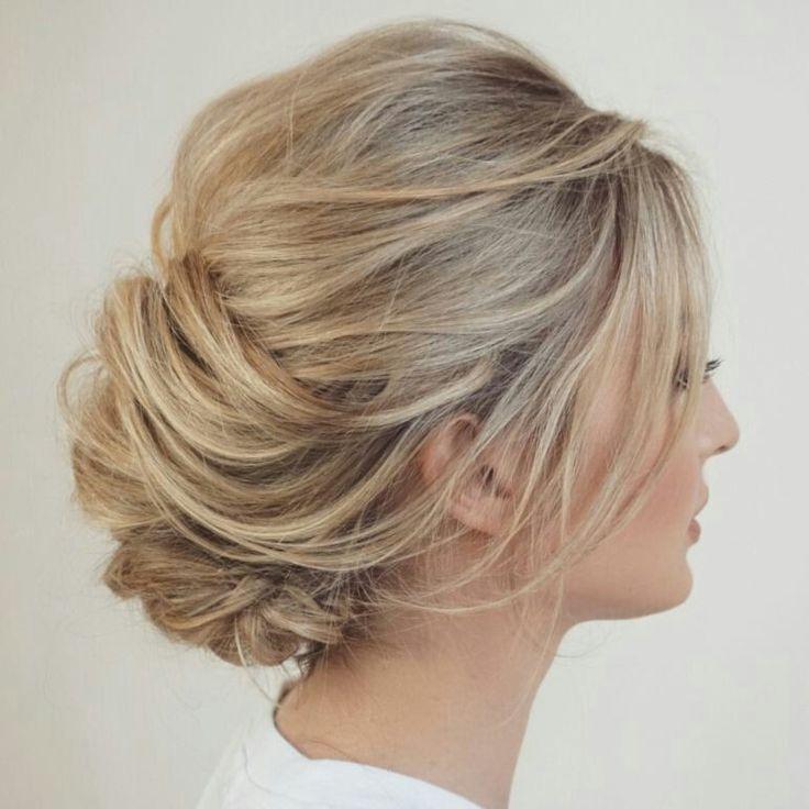 Romantic bridal updo w/ texture by Sarah W. Hair Design (insta)