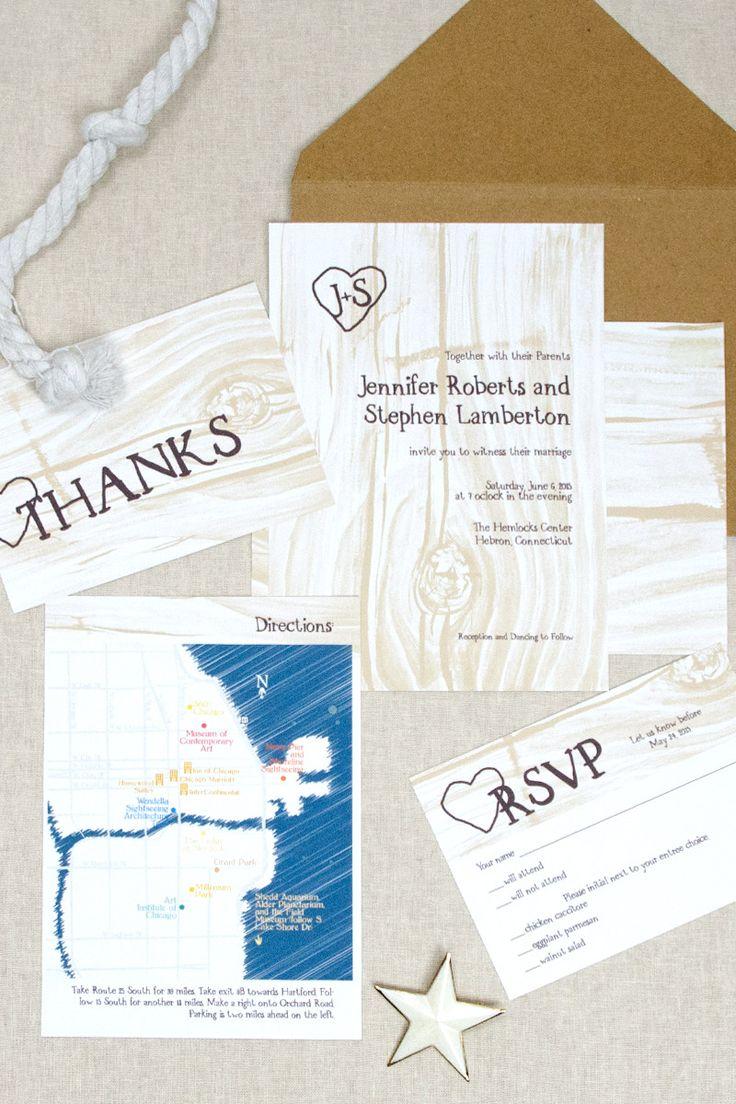 15 best Woodgrain Weddings | Wedding Invitations by CharmCat ...