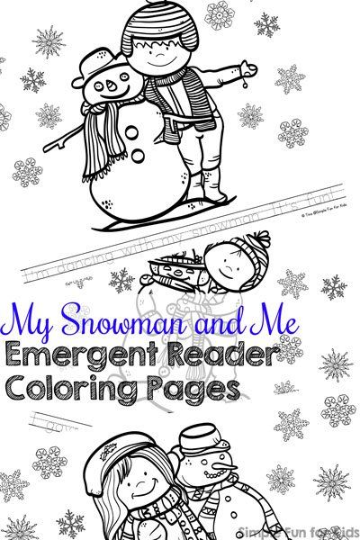 practice reading and have fun coloring at the same time with these cute printable my snowman - Coloring Pages Kindergarteners