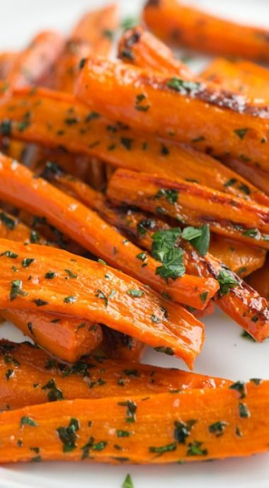 roasted carrots with parsley butter- Definitely adding this to our veggie rotation. Who knew such simple flavors packed such a punch? Love!