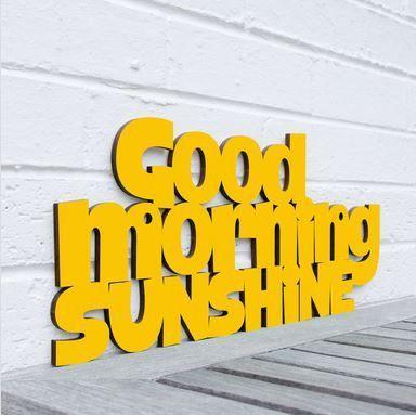 Good Morning Sunshine Hand Painted Laser Cut Wood sign www.aspenleafmarket.com