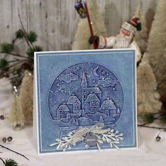 SNOW GLOBE CARD - Jan Hobbins