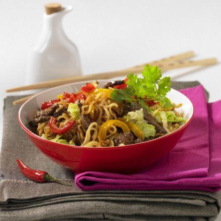China-Nudeln mit Rindfleisch Rezept | LECKER