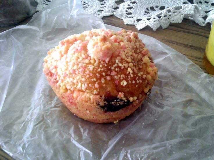 This Strawberry Cheesecake Bread with Jam has a crumble on top. I think this was from Don Q, one of my favorite local Japanese bakery chains!