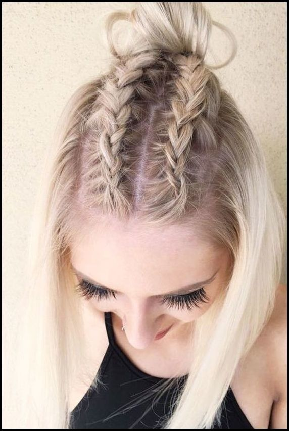 Schöne geflochtene Frisur Ideen für kurze Haare - Neueste