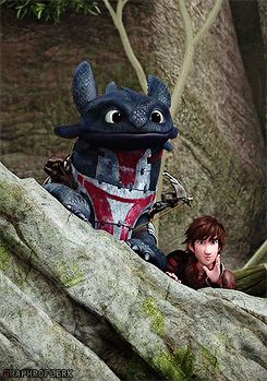 RTTE | Toothless | Hiccup *Whispers* Such stealth. True masters. Toothless's armor is boss! XD