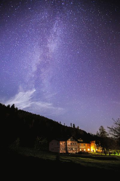starry night near Bischofshofen, Austria