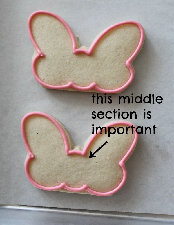 Minnie Mouse Cookie Template | when the cookies are outlined fill with pink flood icing