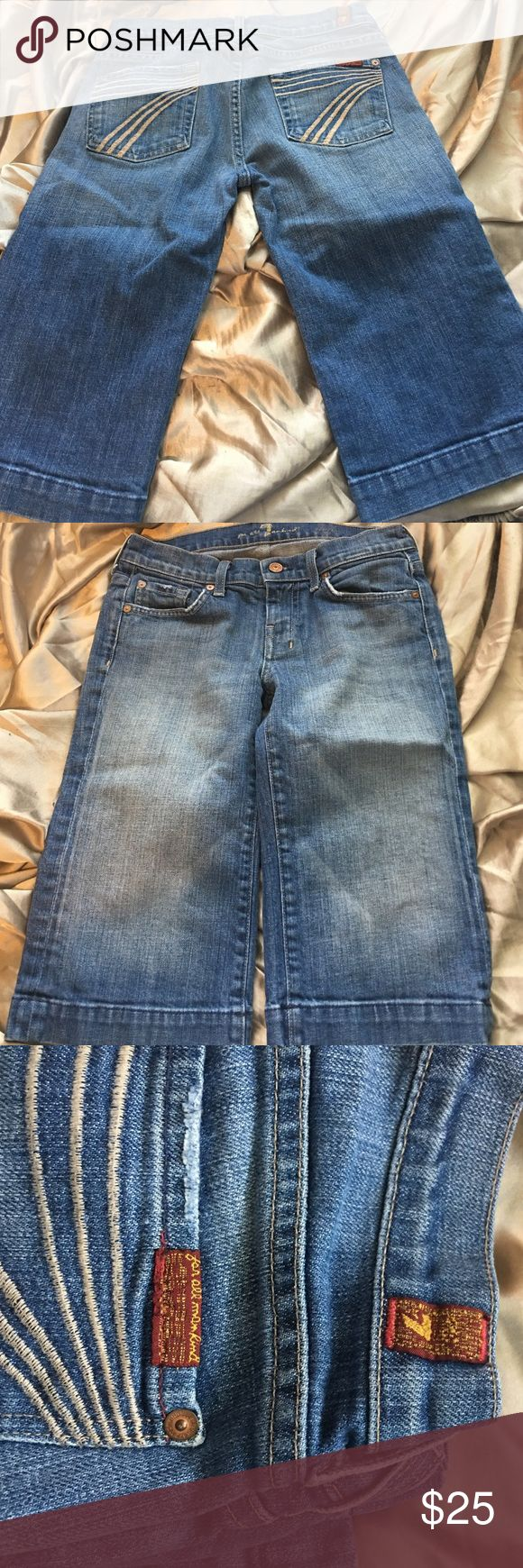 Seven for all mankind jeans Seven for all mankind shorts/Capri jeans used 7 For All Mankind Shorts Jean Shorts