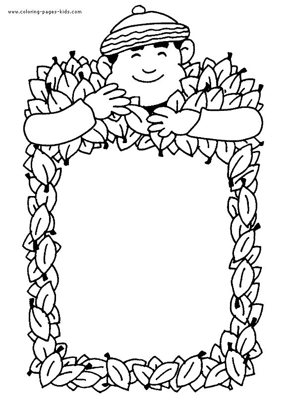 autumn fall color page coloring pages for kids holiday seasonal coloring pages printable coloring pages color pages kids coloring pages - Free Color Pages For Kids