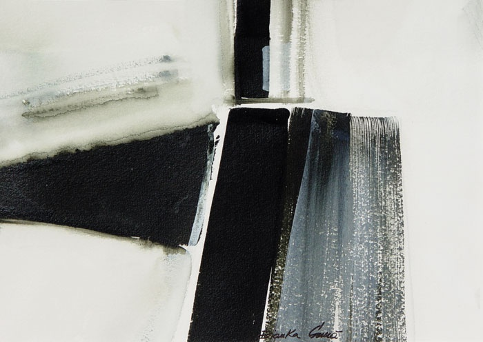 """Bianka Guna - Winter III • Acrylic on Paper • One 14"""" x 10"""" panel"""