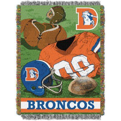 Northwest Co. NFL Broncos Vintage Tapestry Throw