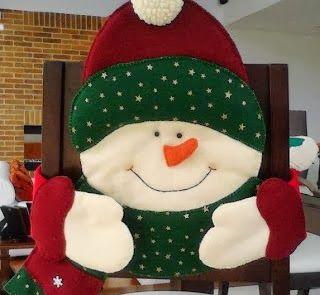 Cubresillas navideño   Creatividad Pastelito