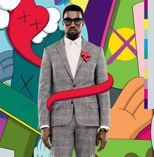 """808's & Heartbreak"". Kanye West. Album art. Art Direction/Design by KAWS."