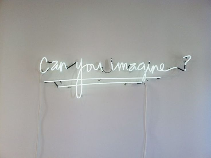 Can you imagine? Custom white #neon sign created in @Kristin :: Teal White Garden Ess of @Matty Chuah Beauty Department 's own handwriting