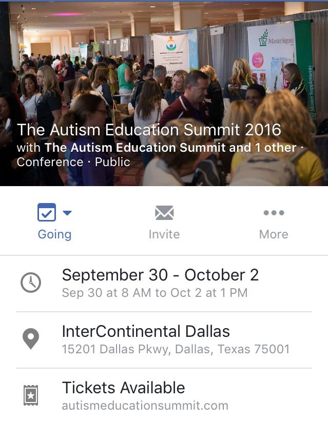 Autism Education Summit Dallas Sept 30-Oct 2 2016 Hosted by Generation Rescue