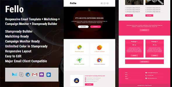 Fello – Responsive Email Template suitable for any kind of corporate, office, business and general categories.   Features       Fully Responsive Email Template     Drag & Drop in StampReady   ...