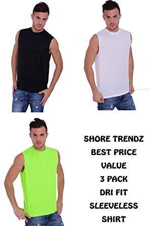 89ee66965 SHORE TRENDZ 3 Pack Men's Dri Fit Sleeveless Shirt Review | Tank Tops | Sleeveless  shirt, Shirts, Mens tops