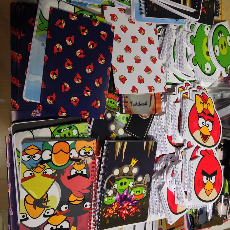 Angry Bird notepads