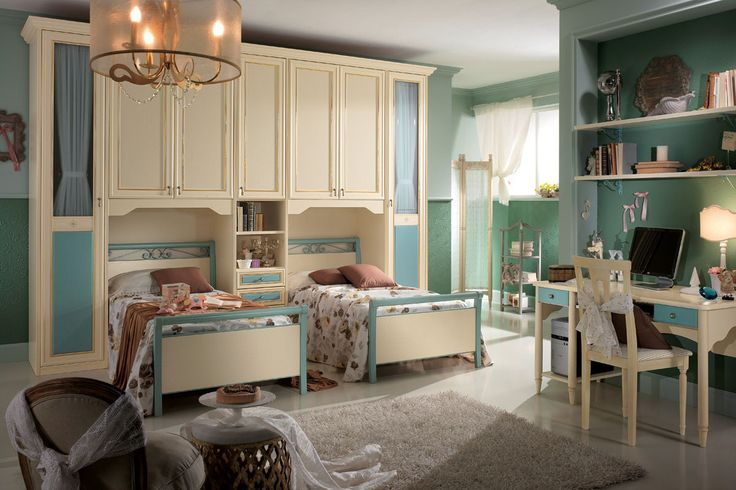 Antique colors and classic furniture for a pleasant and tranquil setting for the little ones.http://www.spar.it/sp/it/arredamento/camerette-gold-120.3sp?cts=camerette_dilettagold