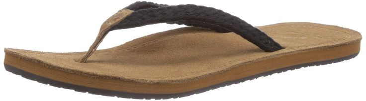Reef Womens Gypsy Macrame Sandal/Flip Flops/Slipper Footwear, Black, Size 7. Closure: slip-on. Upper Material: suede, polyester. Style: flip-flop. Recommended Use: casual. Footbed: suede.