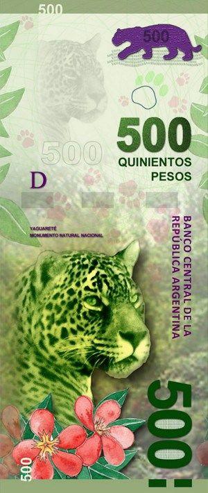 billete de 500 Pesos en Argentina