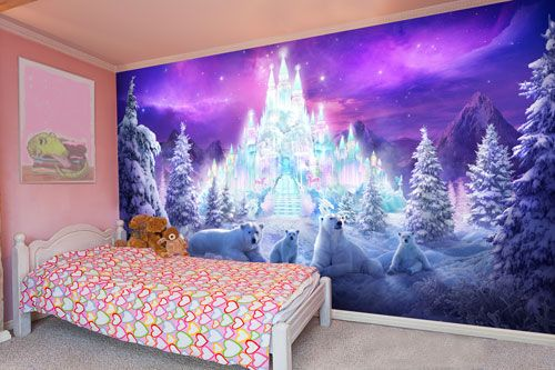 Ice palace wall mural, great for a Frozen themed bedroom