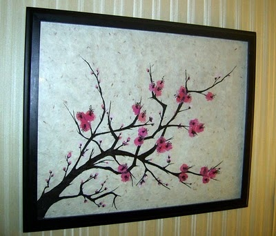 1000 images about canvas art homemade on pinterest for Cherry blossom mural works