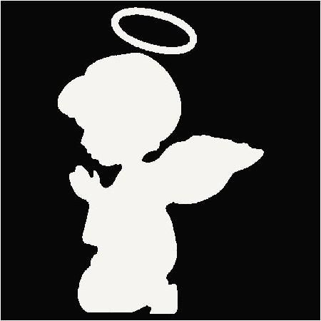 Angel Fe Svg Silouette Praying Angel Silouette