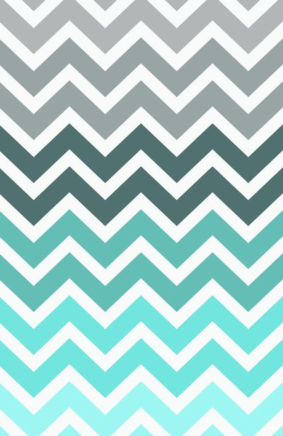 Tiffany Fade Chevron Pattern Stretched Canvas