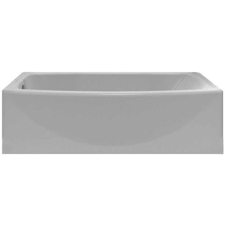 American Standard 2647.202.011 60-in x 30-in Saver Arctic White Oval In Rectangle Skirted Bathtub with