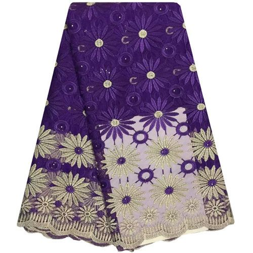 Nigerian Lace Fabrics Hgh Quality Guipure French Lace Fabric With Stones Embroidered African Lace Fabric Tulle Lace