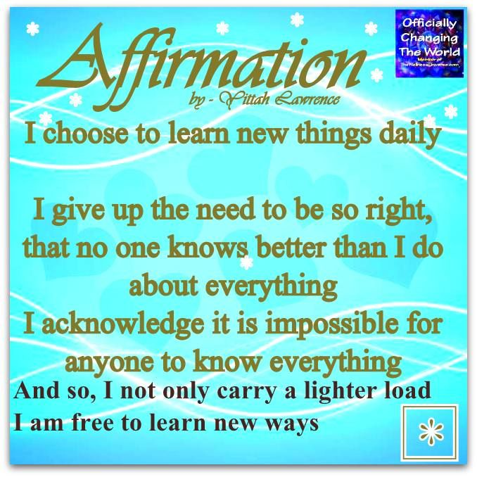 Positive Spiritual Affirmation