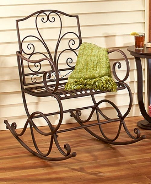 Rustic Porch Outdoor Patio Deck Glider Rocking Rocker Bench Chair Lawn Furniture Unbranded